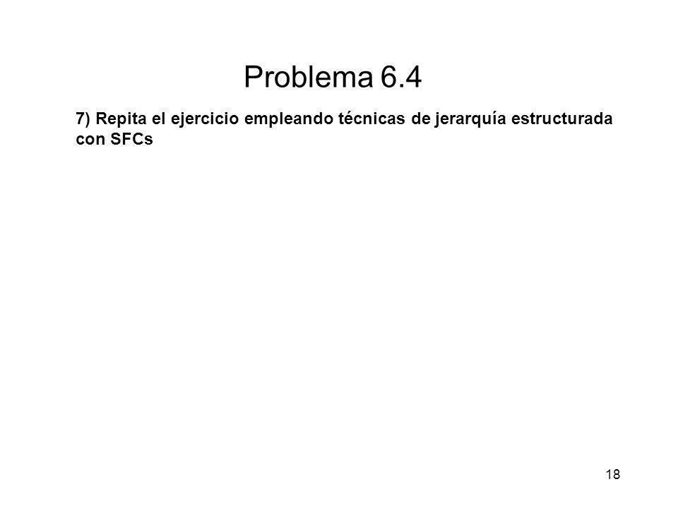Problema 6.4 7) Repita el ejercicio empleando técnicas de jerarquía estructurada con SFCs 18
