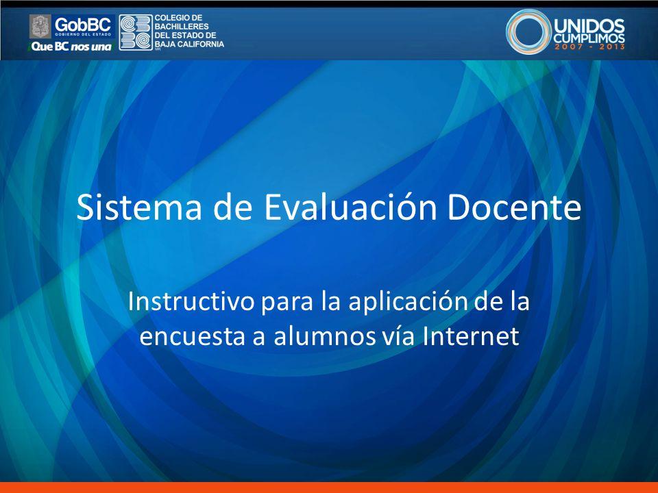 Sistema de Evaluación Docente