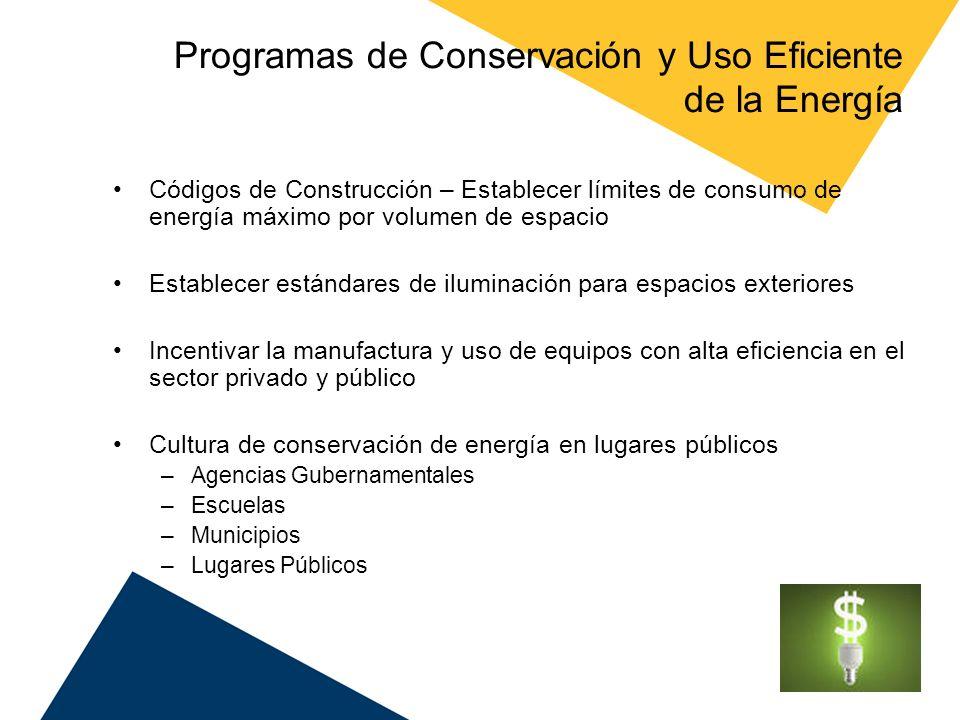 Programas de Conservación y Uso Eficiente de la Energía