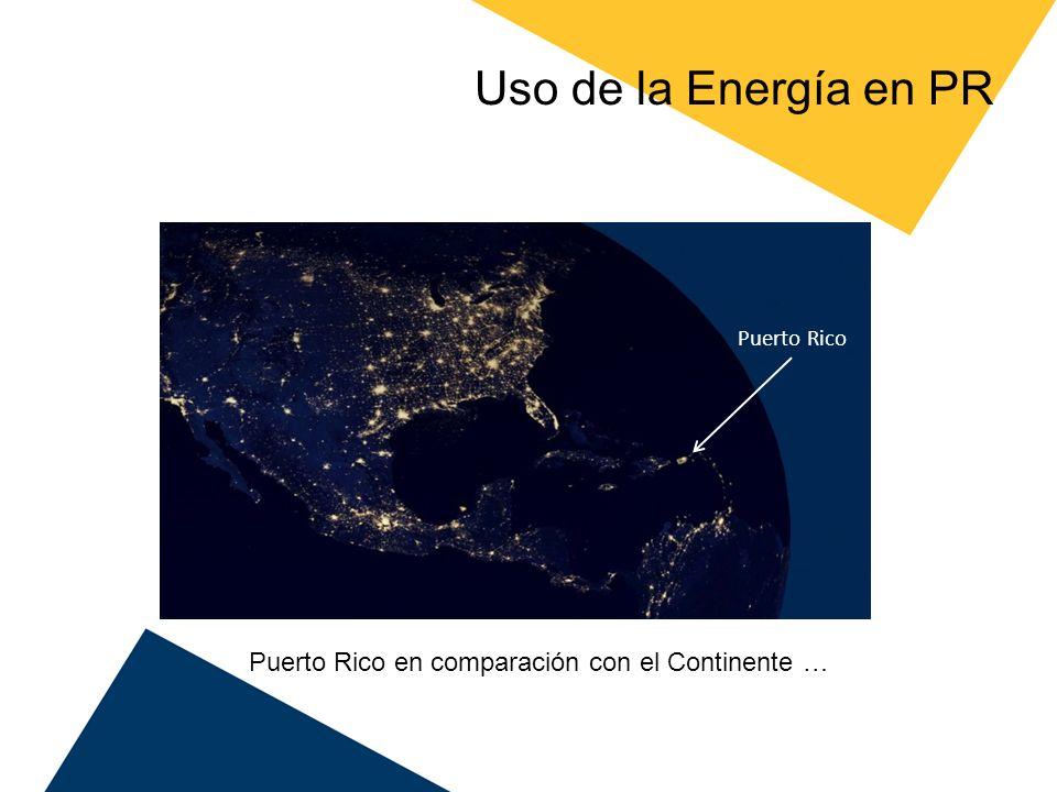 Uso de la Energía en PR Puerto Rico en comparación con el Continente …