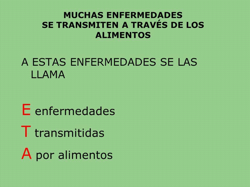 MUCHAS ENFERMEDADES SE TRANSMITEN A TRAVÉS DE LOS ALIMENTOS
