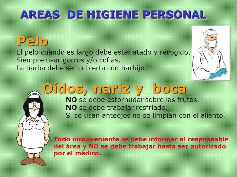 AREAS DE HIGIENE PERSONAL