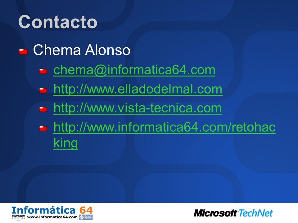 Contacto Chema Alonso chema@informatica64.com