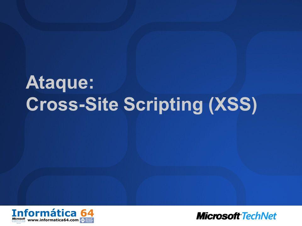 Ataque: Cross-Site Scripting (XSS)