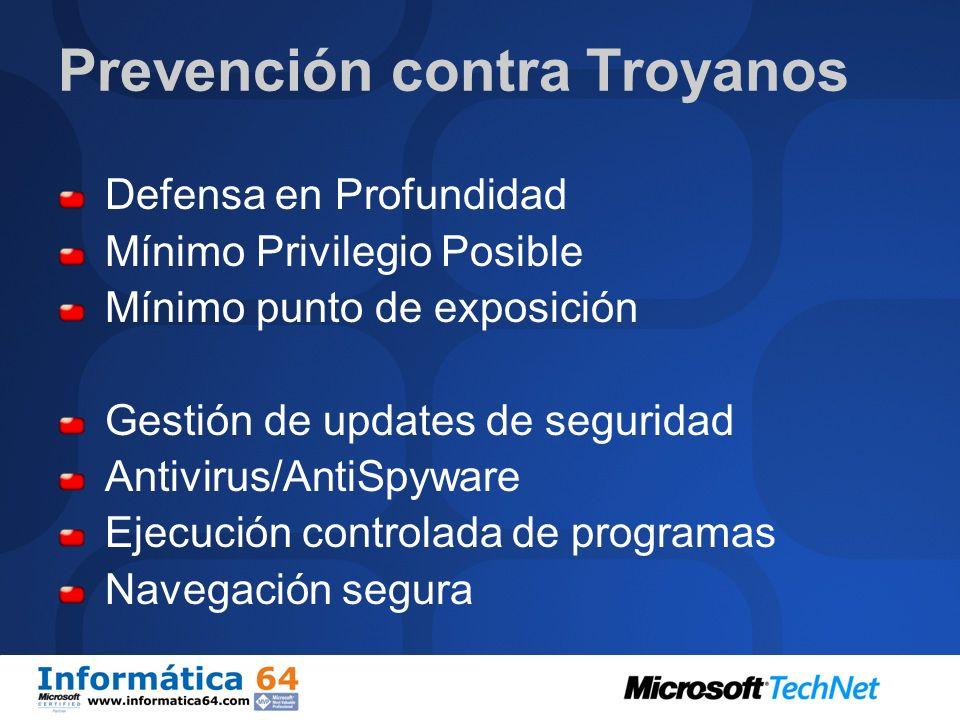 Prevención contra Troyanos