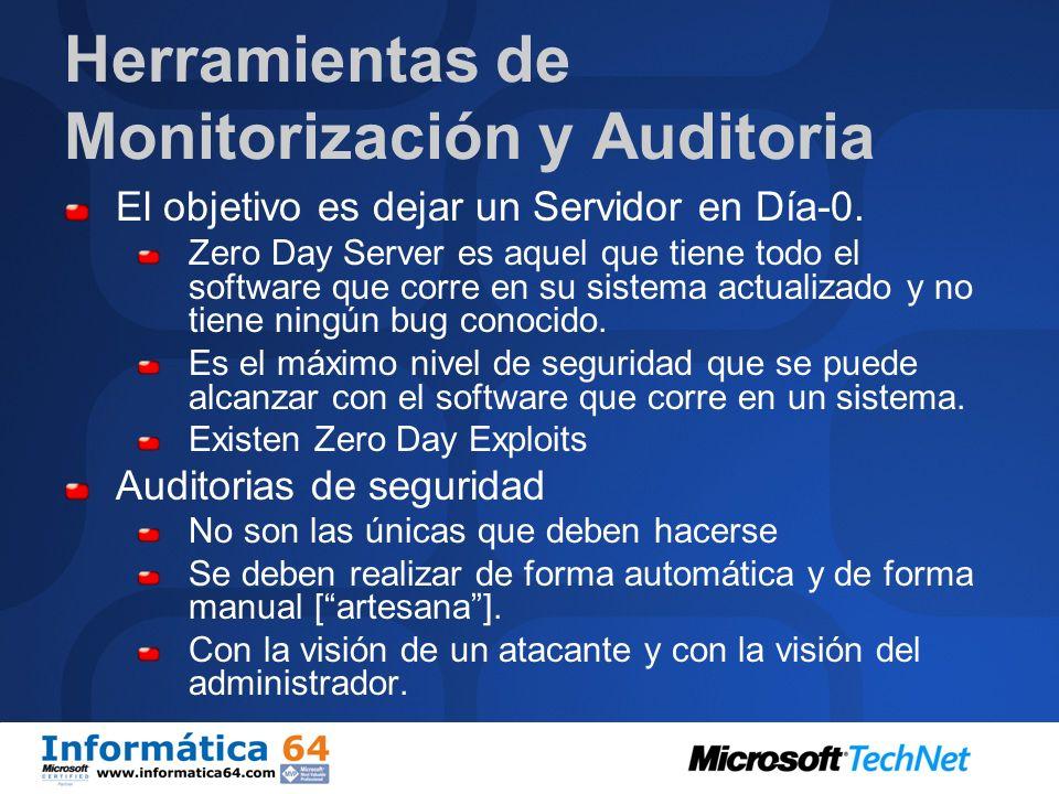 Herramientas de Monitorización y Auditoria