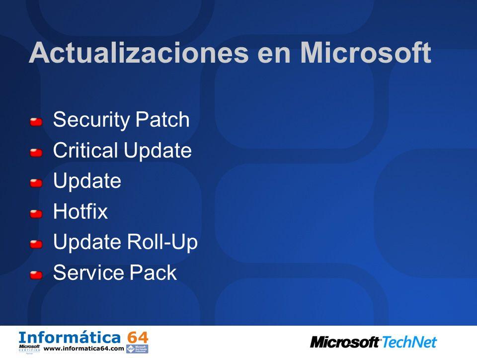 Actualizaciones en Microsoft