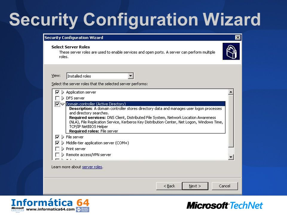 Security Configuration Wizard