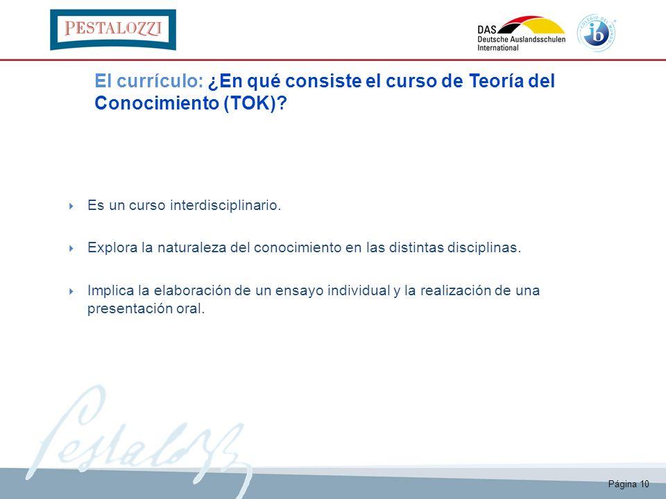 El currículo: ¿En qué consiste el curso de Teoría del Conocimiento (TOK)