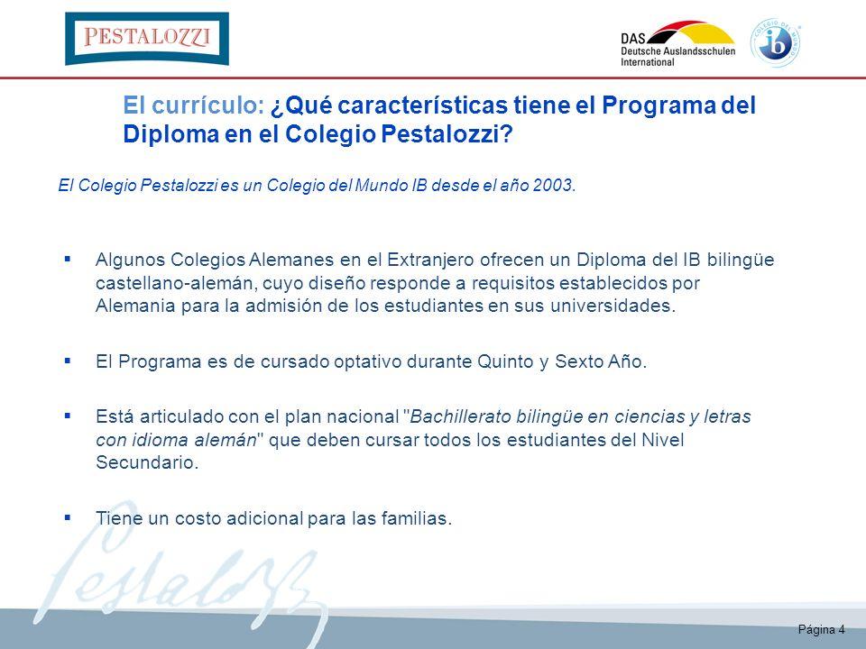 El currículo: ¿Qué características tiene el Programa del Diploma en el Colegio Pestalozzi