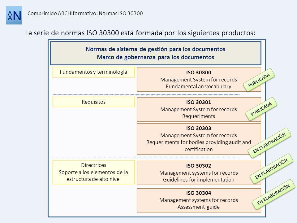 Comprimido ARCHIformativo: Normas ISO 30300