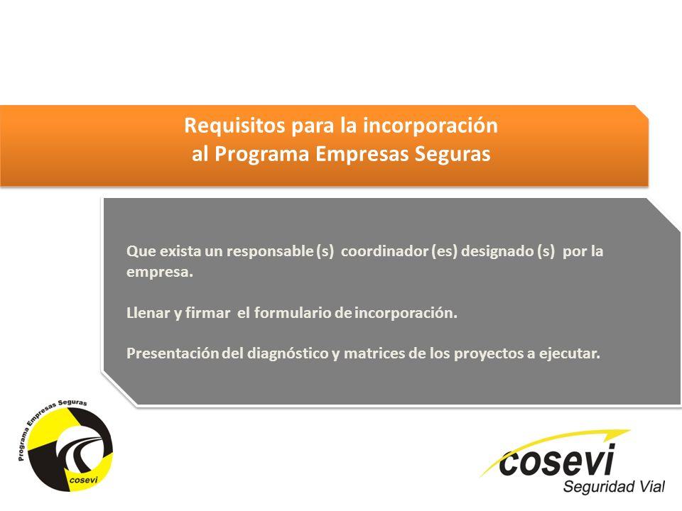 Requisitos para la incorporación al Programa Empresas Seguras