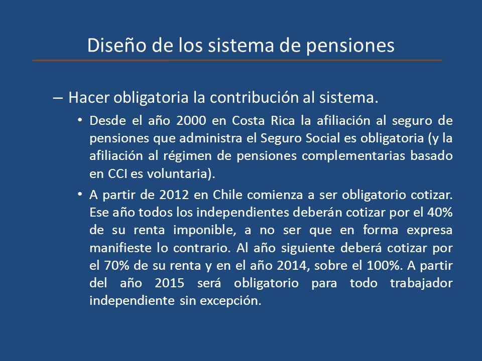 Diseño de los sistema de pensiones