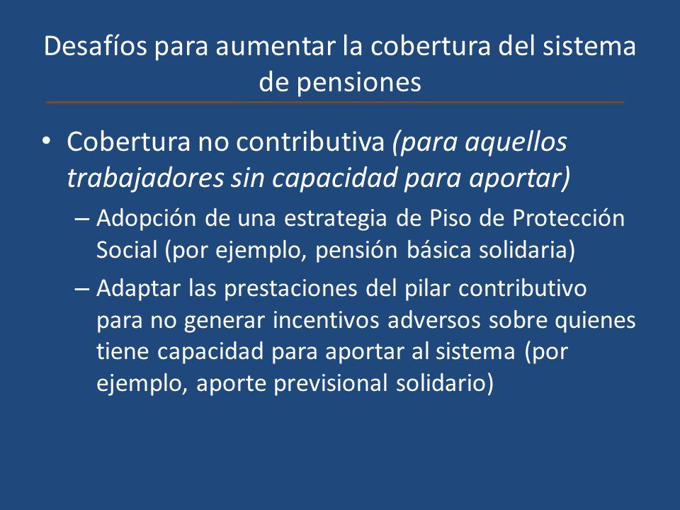 Desafíos para aumentar la cobertura del sistema de pensiones