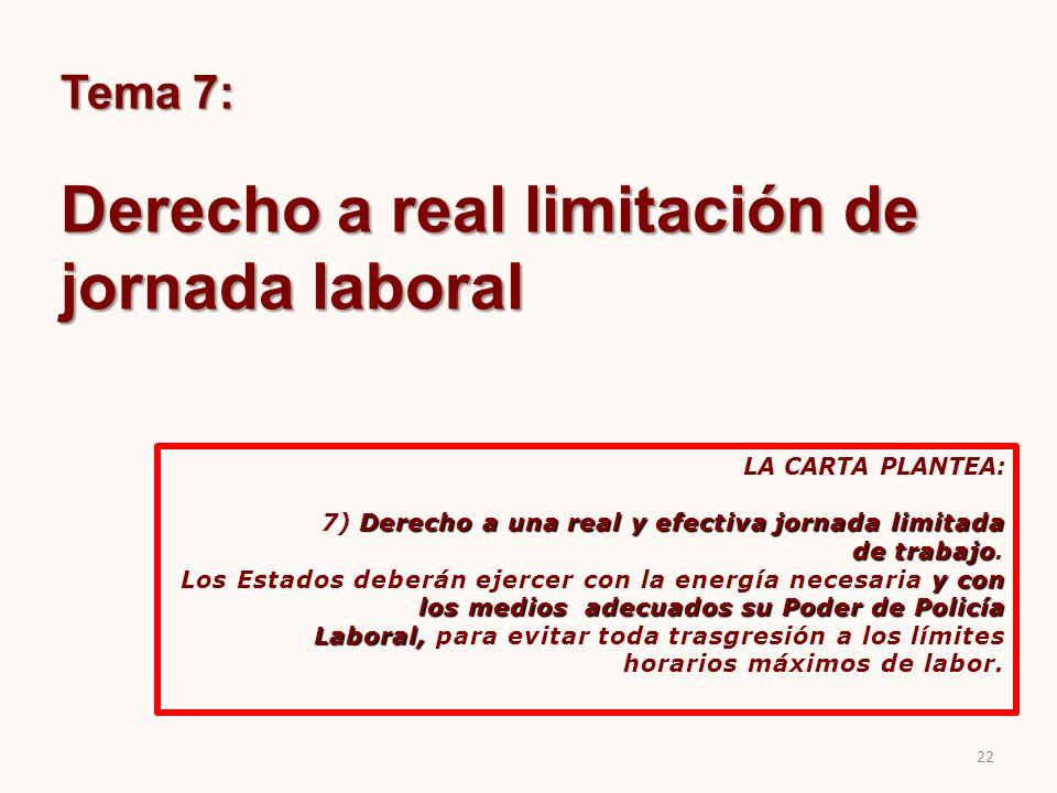 Derecho a real limitación de jornada laboral