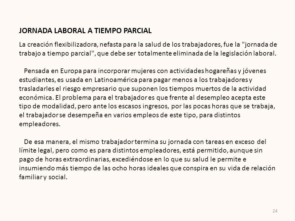 JORNADA LABORAL A TIEMPO PARCIAL