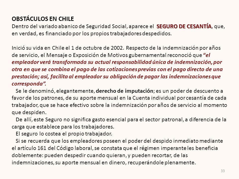 OBSTÁCULOS EN CHILE