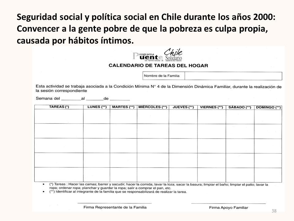 Seguridad social y política social en Chile durante los años 2000: