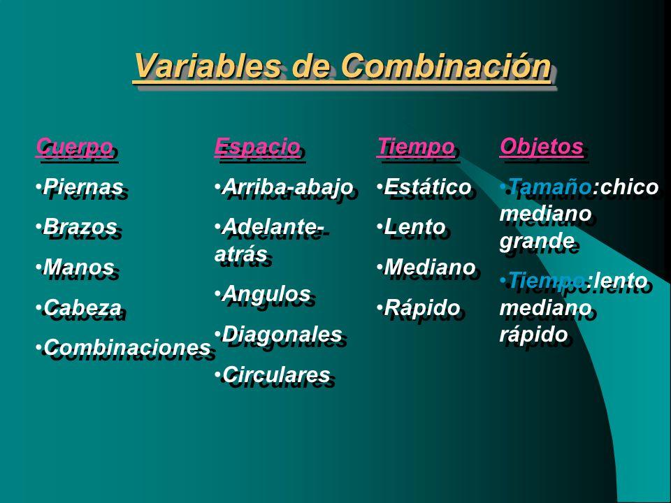 Variables de Combinación