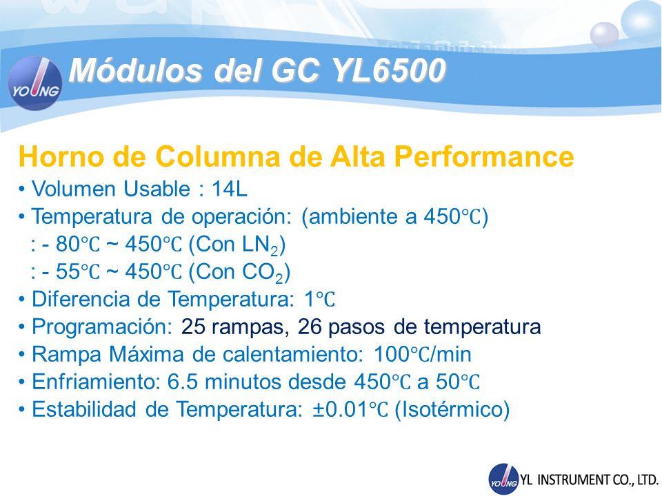 Módulos del GC YL6500 Horno de Columna de Alta Performance