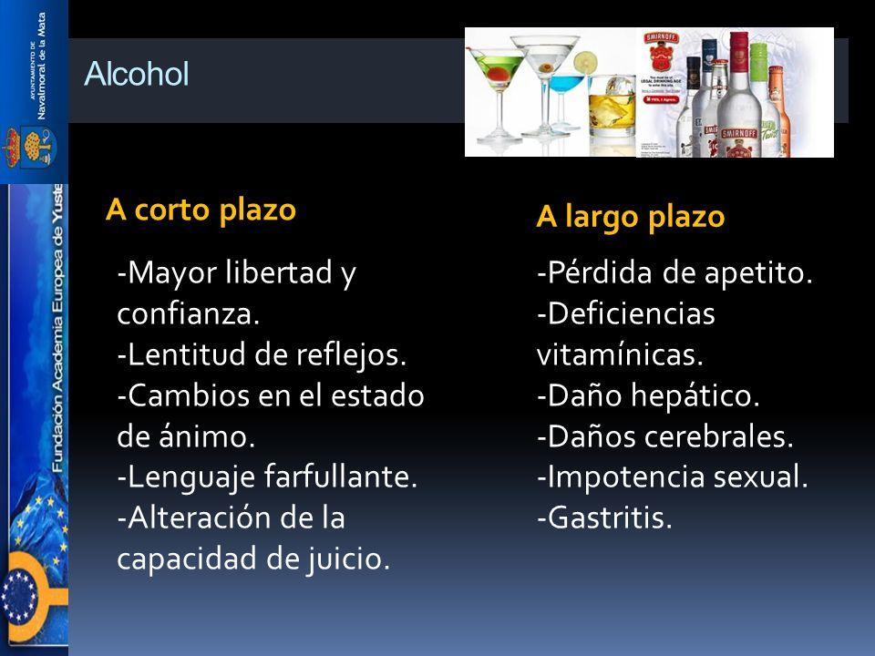 Alcohol A corto plazo A largo plazo