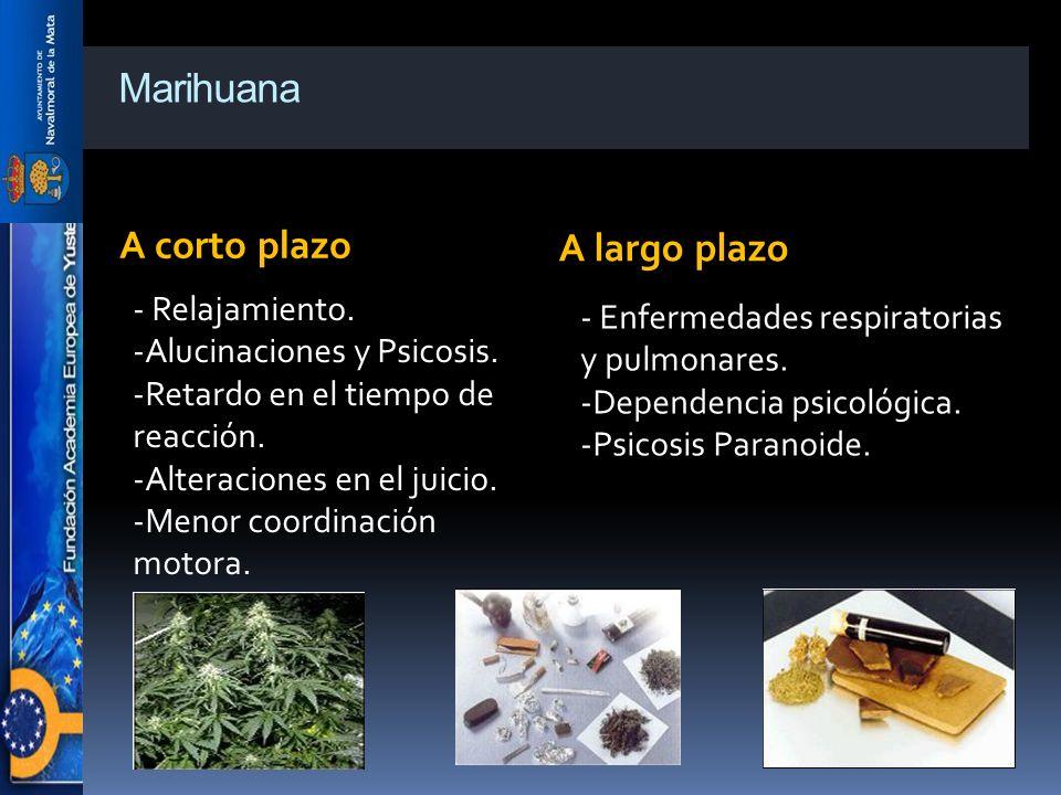 Marihuana A corto plazo A largo plazo
