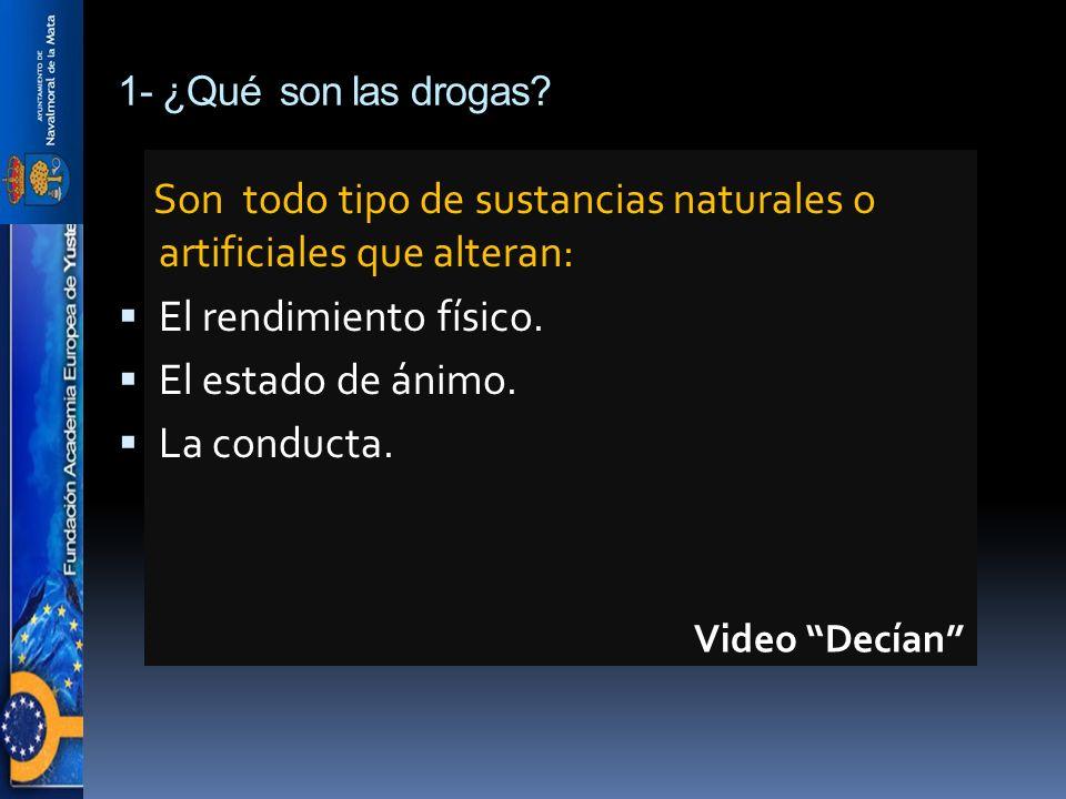 Son todo tipo de sustancias naturales o artificiales que alteran: