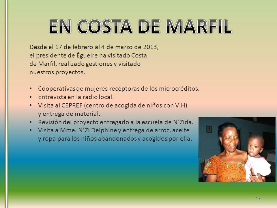 EN COSTA DE MARFIL Desde el 17 de febrero al 4 de marzo de 2013,
