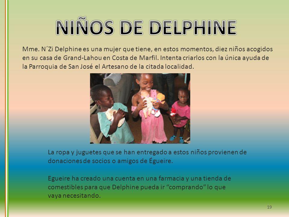 NIÑOS DE DELPHINE Mme. N´Zi Delphine es una mujer que tiene, en estos momentos, diez niños acogidos.