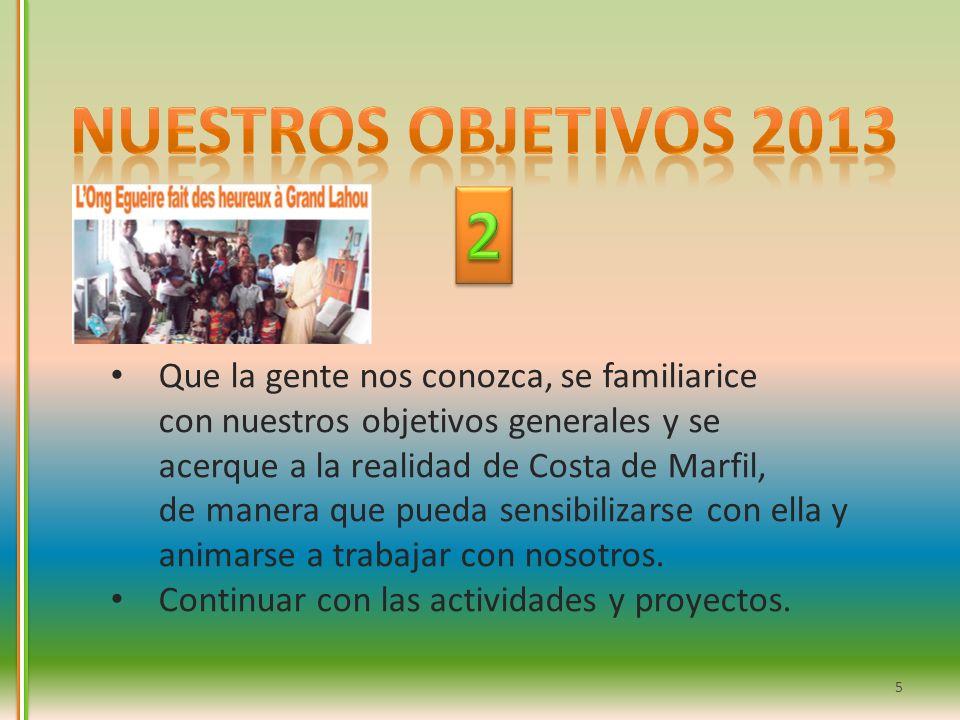 Nuestros objetivos 2013 2.