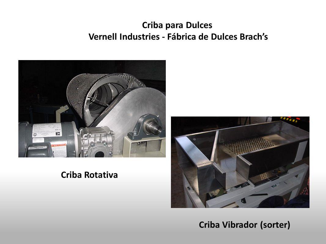 Vernell Industries - Fábrica de Dulces Brach's Criba Vibrador (sorter)