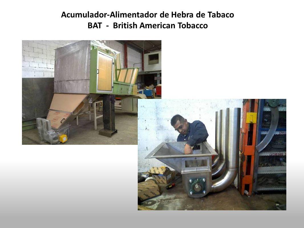 Acumulador-Alimentador de Hebra de Tabaco
