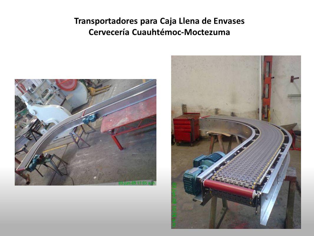 Transportadores para Caja Llena de Envases