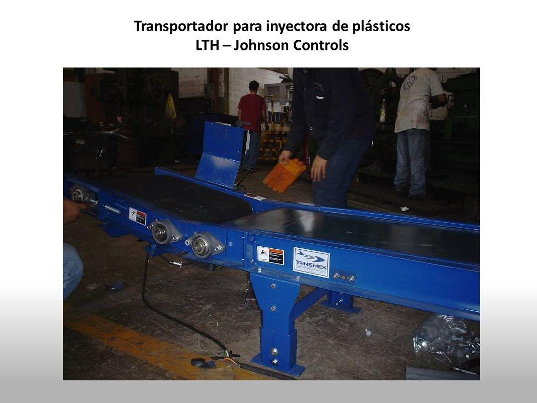 Transportador para inyectora de plásticos
