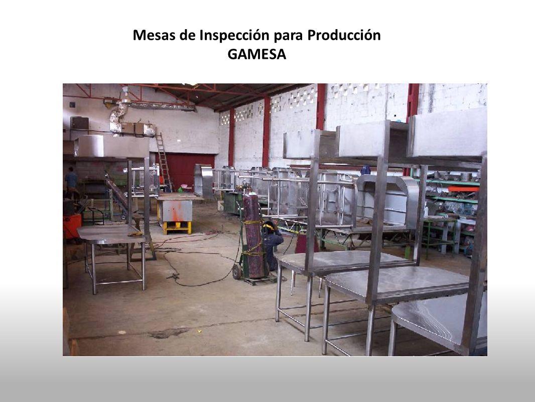 Mesas de Inspección para Producción