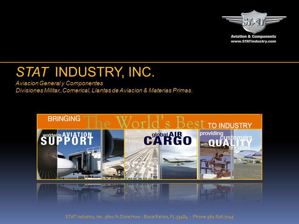 STAT INDUSTRY, INC. Aviacion General y Componentes