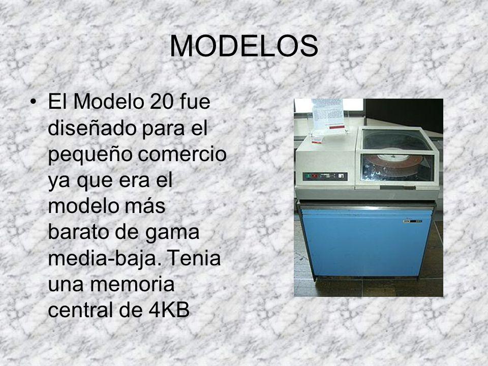MODELOS El Modelo 20 fue diseñado para el pequeño comercio ya que era el modelo más barato de gama media-baja.