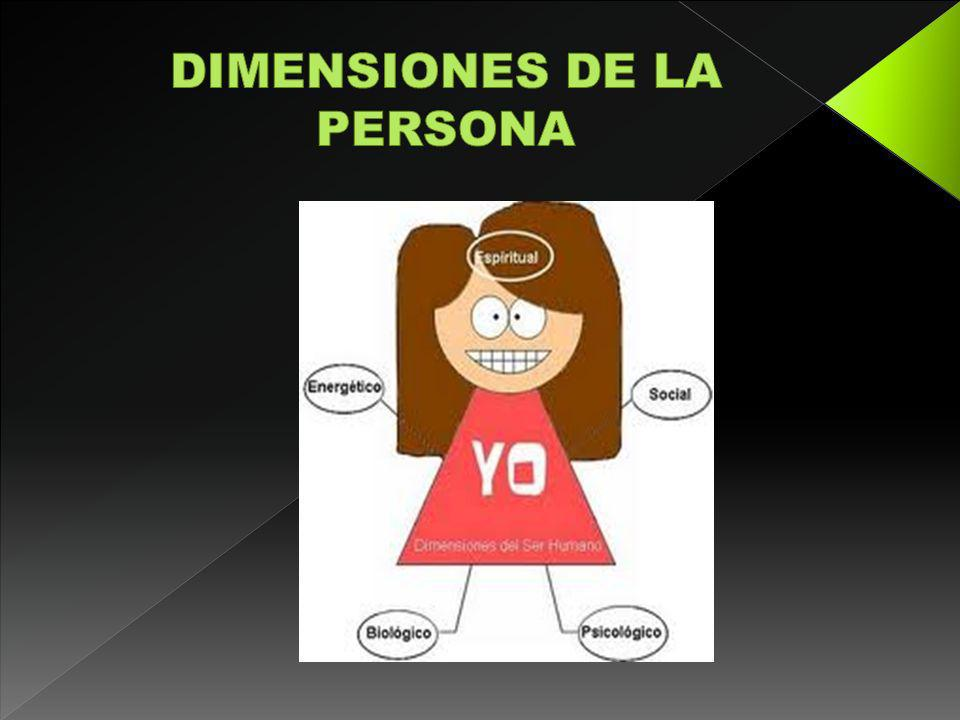 DIMENSIONES DE LA PERSONA