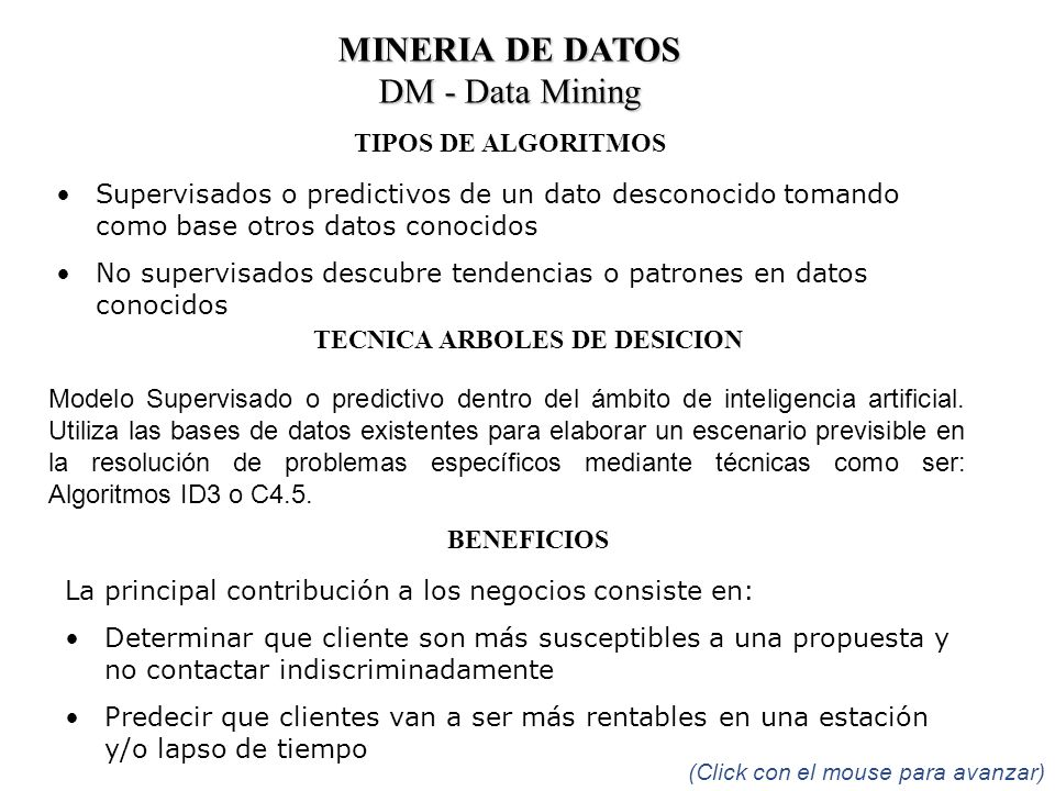 TECNICA ARBOLES DE DESICION