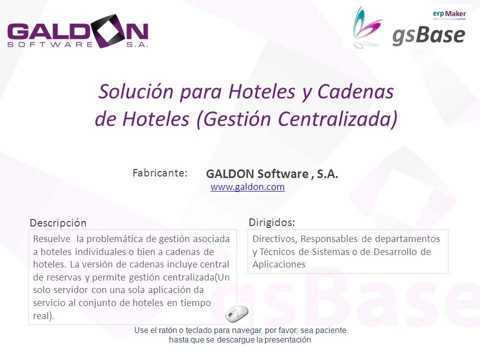 Solución para Hoteles y Cadenas de Hoteles (Gestión Centralizada)