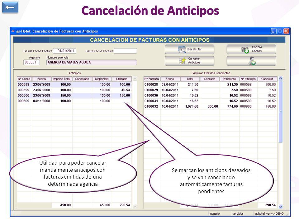 Cancelación de Anticipos