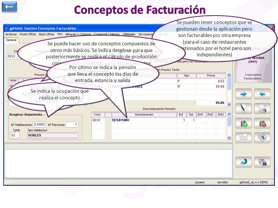 Conceptos de Facturación