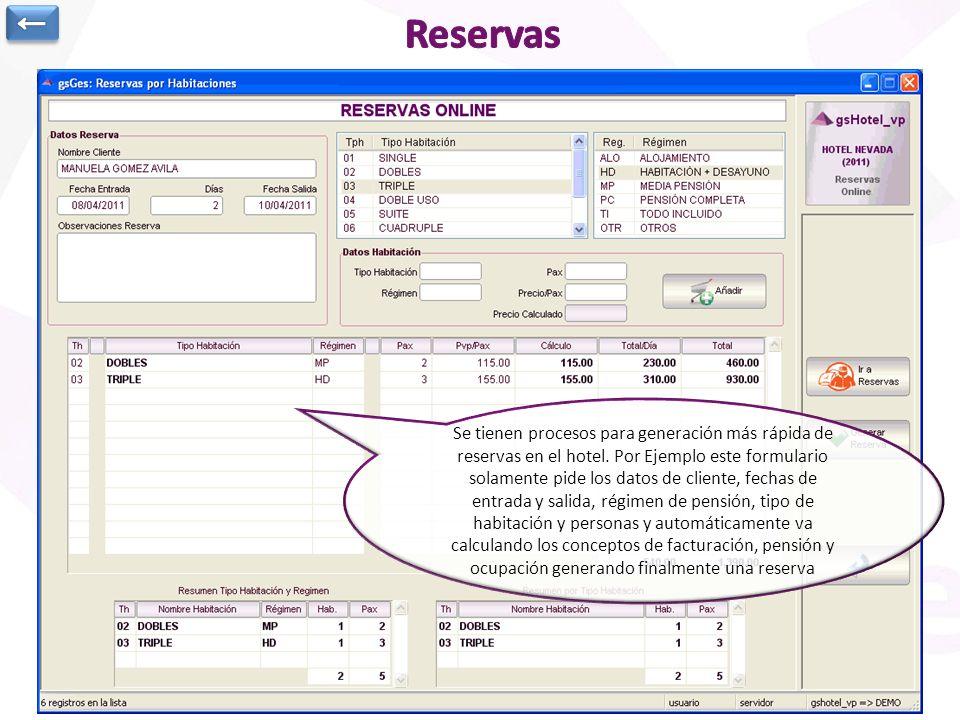 ← Reservas. Anotación de Suplementos en la reserva: Camas supletorias, cunas, extras de cualquier tipo,…