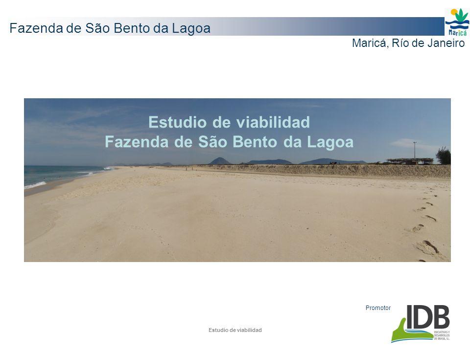 Estudio de viabilidad Fazenda de São Bento da Lagoa