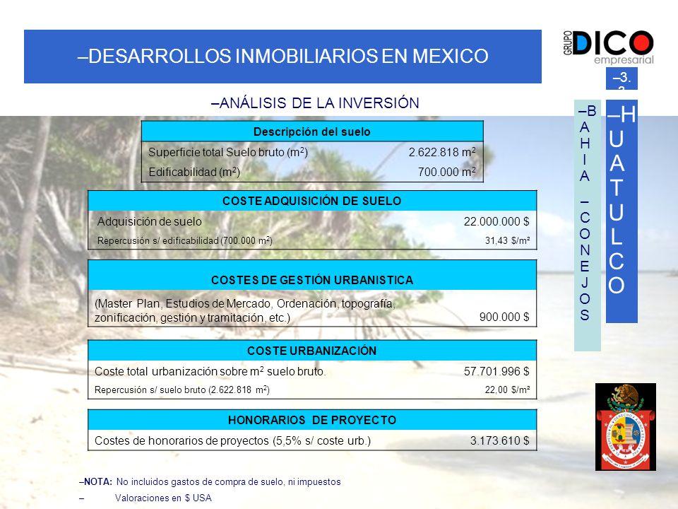 HUATULCO DESARROLLOS INMOBILIARIOS EN MEXICO ANÁLISIS DE LA INVERSIÓN