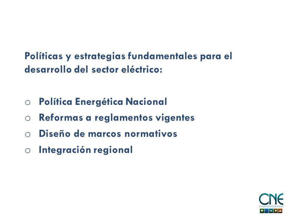 Políticas y estrategias fundamentales para el desarrollo del sector eléctrico: