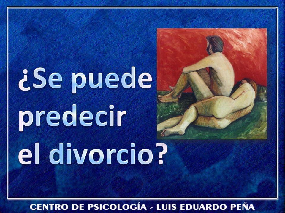 ¿Se puede predecir el divorcio
