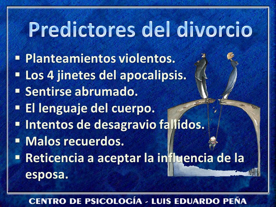 Predictores del divorcio