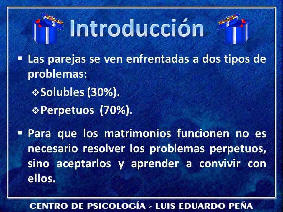 Introducción Las parejas se ven enfrentadas a dos tipos de problemas: