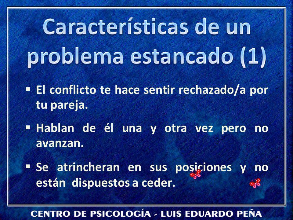Características de un problema estancado (1)